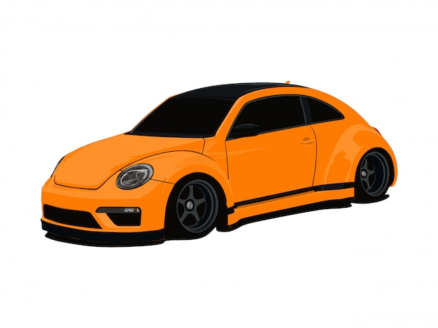 Auto arancione personalizzata