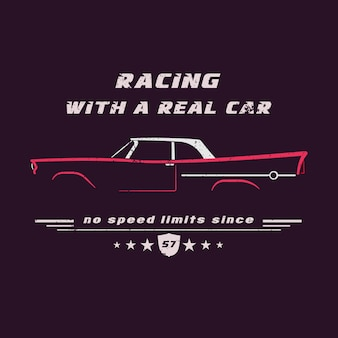 Auto d'epoca classica americana.