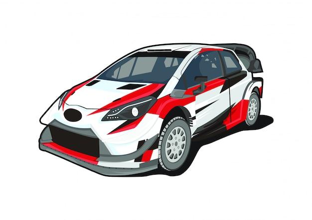Auto da rally di illustrazione