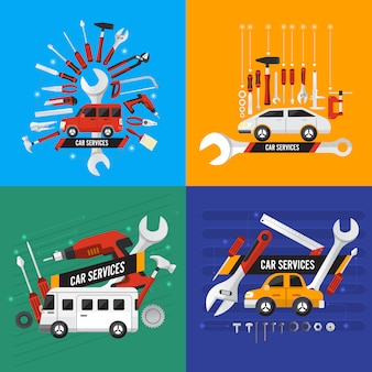 Auto illustrazioni di servizio fissi