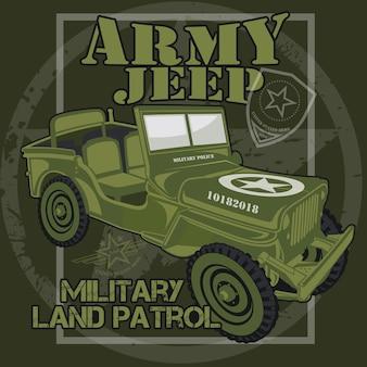 Auto jeep dell'esercito