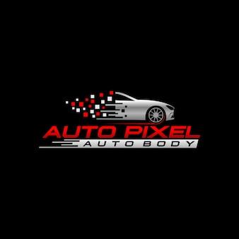 Auto pixel logo