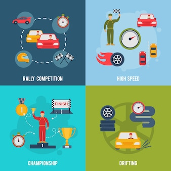Auto sport piatto