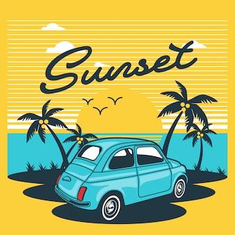 Auto sulla spiaggia