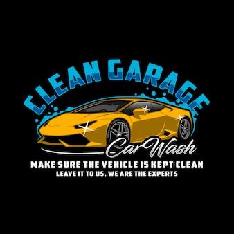 Autolavaggio pulito del garage