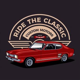 Automobile classica rossa del muscolo