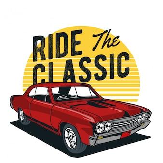 Automobile classica rossa