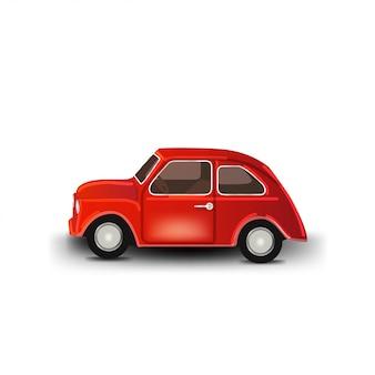 Automobile d'annata isolata su fondo bianco