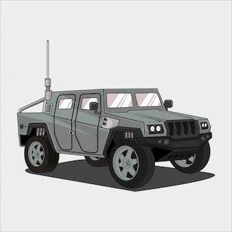 Automobile dell'esercito dell'illustrazione dell'automobile
