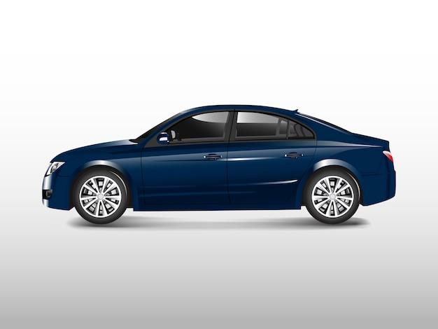 Automobile di berlina blu isolata sul vettore bianco
