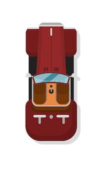 Automobile di lusso della barretta calda di vista superiore isolata