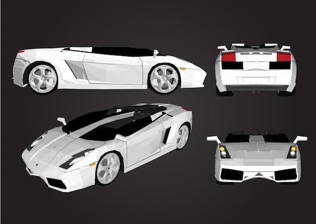 Automobile sportiva di vettore isolata