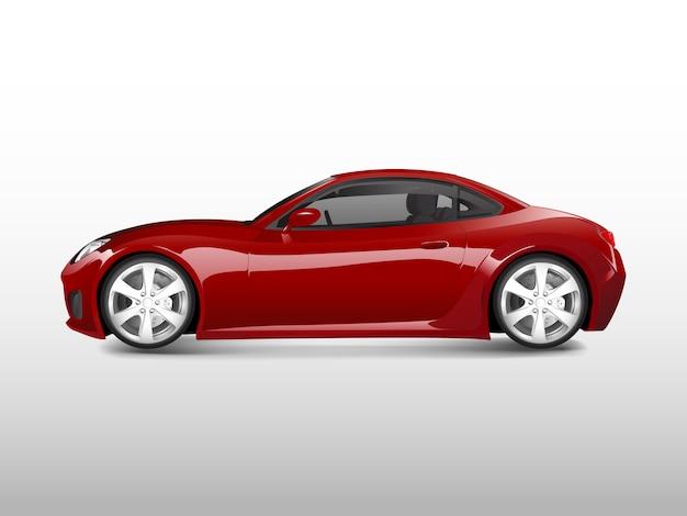 Automobile sportiva rossa isolata sul vettore bianco
