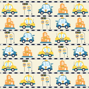 Automobili, segnali stradali, costruendo sul vettore del modello