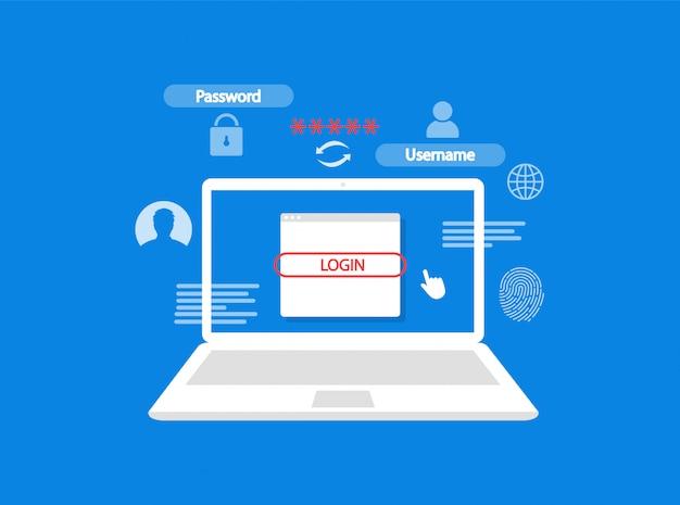 Autorizzazione nel laptop