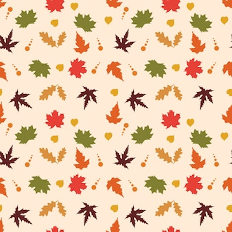 Autumn colourfull seamless pattern