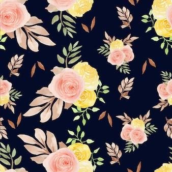Autumn floral seamless pattern