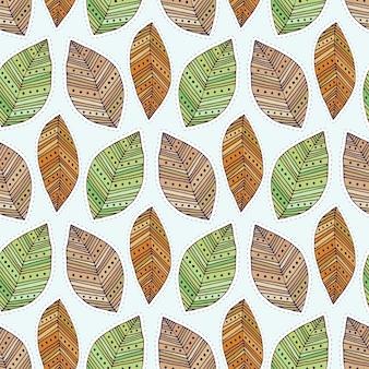 Autunno seamless con foglie moderne