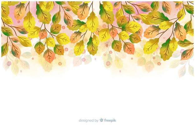 Autunno stile decorativo sfondo acquerello