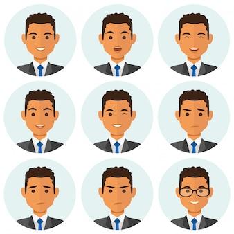 Avatar di affari uomo expresions