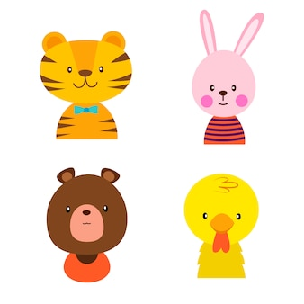 Avatar di animali piatti