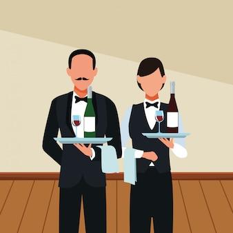 Avatar di camerieri del ristorante