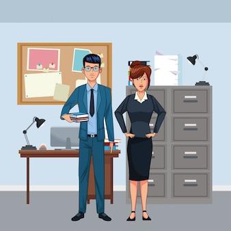 Avatar di coppia d'affari