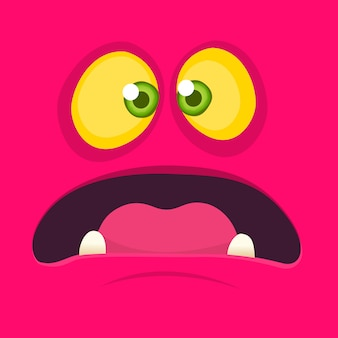 Avatar di faccia di mostro dei cartoni animati. mostro di halloween