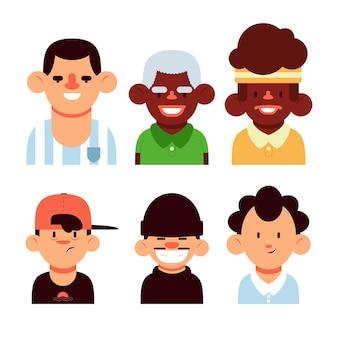 Avatar di giovani e anziani