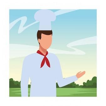 Avatar di lavoratore chef