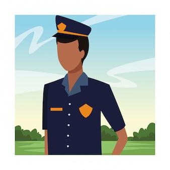 Avatar di lavoratore ufficiale di polizia