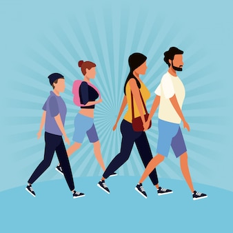 Avatar di persone che camminano