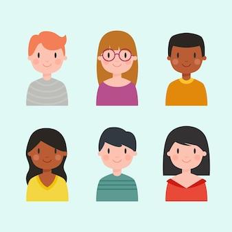 Avatar di persone diverse