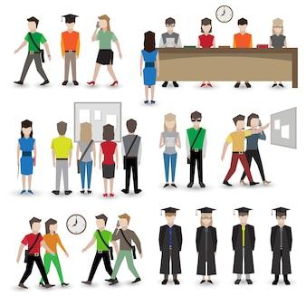 Avatar di persone universitarie