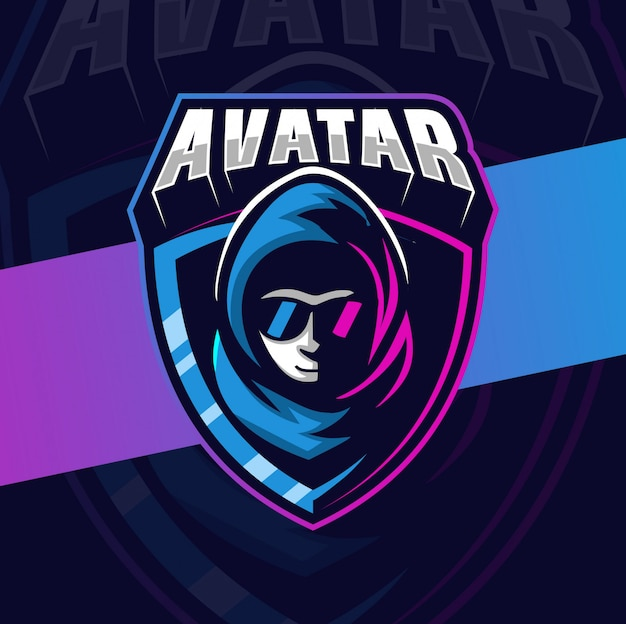 Avatar hacker mascotte esport logo design