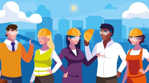 Avatar set di lavoratori professionisti