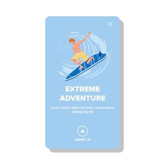 Avventura estrema e sport acquatici attivi