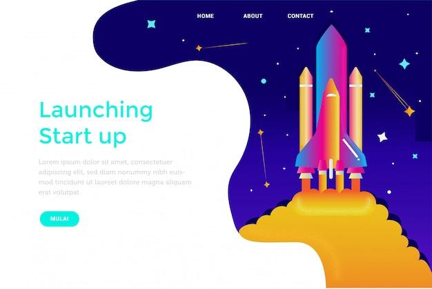 Avvio avvio con il design del sito web