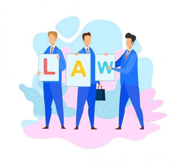 Avvocati che tengono legge