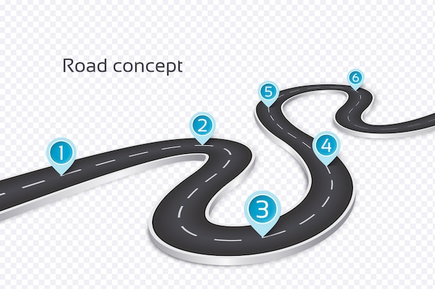 Avvolgimento 3d concetto infografica strada