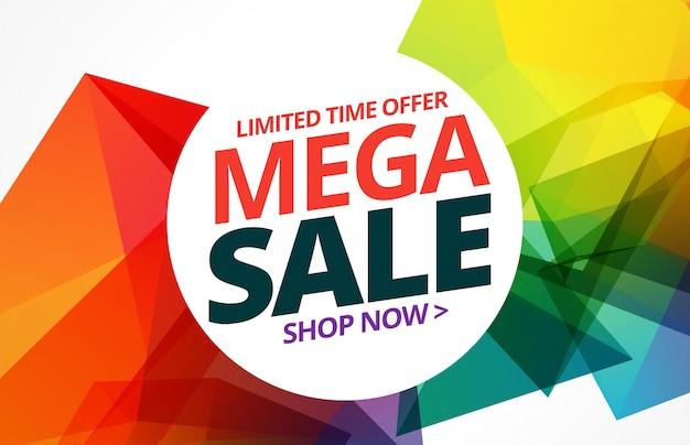 Awsome design colorato di vendita banner con i dettagli dell'offerta