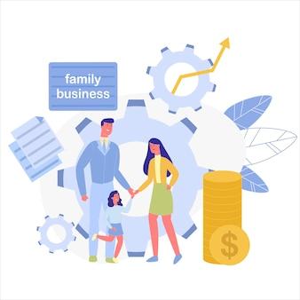 Azienda familiare come ingranaggi nitidi e senza intoppi