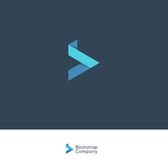 B lettera logo blu società corporativa