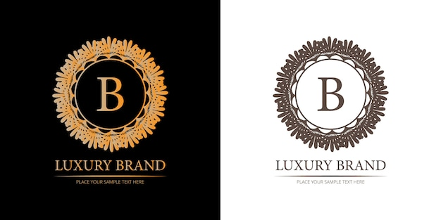 B logo del marchio di lusso