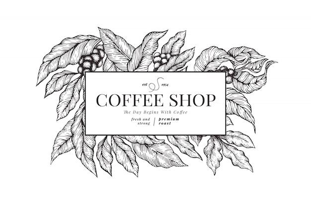 B & w modello di caffè.