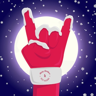 Babbo natale rock and roll sign