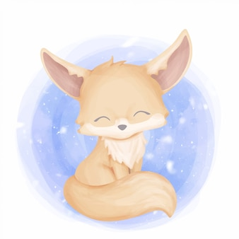 Baby fennec fox simpatico animale