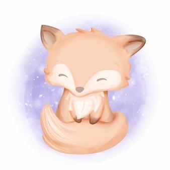 Baby foxy con dolce sorriso