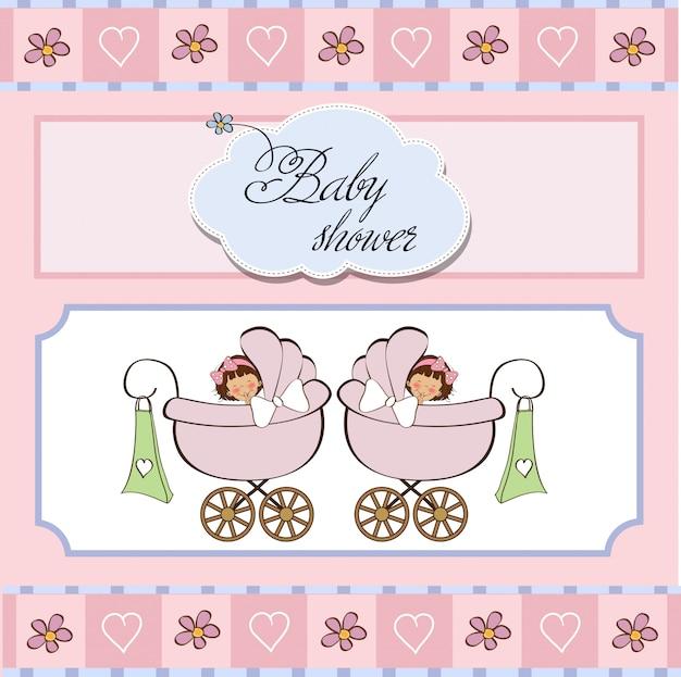 Baby gemelli doccia carta
