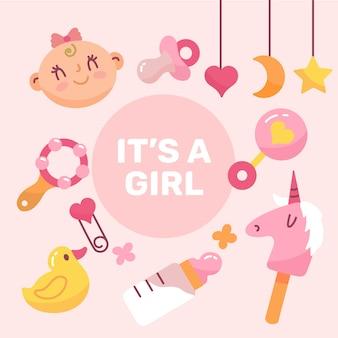 Baby girl wallpaper con giocattoli